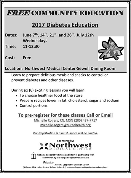 Northwest Medical Center to Offer Community Diabetes Class